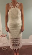 Self Portrait White Midi Length One Off Dress Lace Wedding/Party/Holiday Uk8