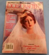 """June 1999 Doll Crafter Magazine costuming 1920's bride doll, 25"""" doll & wedding"""
