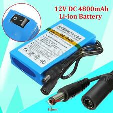 DC-12480 12V DC 4800mAh Super Rechargeable Protable Li-ion Battery For CCTV
