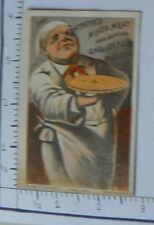 ATMORE'S MINCE MEAT ENGLISH PLUM PUDDING FAT CHEF HOLDING FRESH PIE 1546