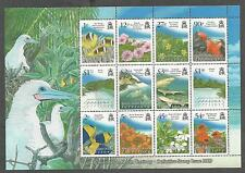 BIOT B.I.O.T. 383-394 394a SG MS426 Sea Life Birds Definitive Souvenir Sheet NH