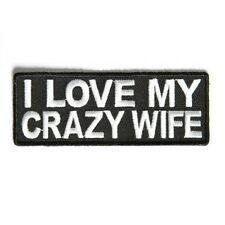 I LOVE MY CRAZY WIFE PATCH