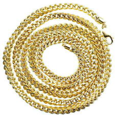 10KT Real Yellow Gold 5.00 MM Franco D.C Hollow Chain Necklace 30 Inches Long.