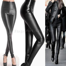 Pantalon Cuir Simili Femme jeans skinny Slim Push Up Noir Stretch Sexy Leather