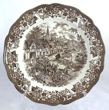 "J G Meakin Royal Staffordshire Brown STRATFORD STAGE 10-3/8"" Dinner Plate/s (21)"