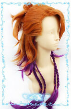 Black Butler Kuroshitsuji Joker Orange Purple mix Cosplay Wig 8104