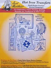3782 Aunt Martha's Hot Iron On Transfers AMERICAN INDIAN DESIGNS
