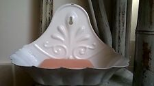 Beautiful Antique French Style Enamel Shell Soap Dish Shabby Country Chic