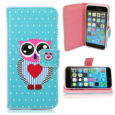 """Cute Leather Card Slot Phone Soft Flip Case Cover For Apple iPhone 6 6s 4.7"""""""