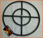 "Sierra Black Iron Fire Pit Ring Burners - Sizes 12"" - 36"""