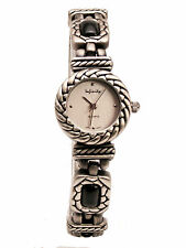 INFINITY:WOMEN'S ANTIQUE LOOK SEMI PRECIOUS JASPER LINKS ANALOG QUARTZ WATCH