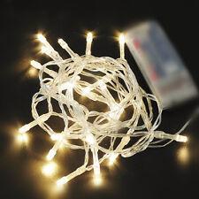 Warmweiss Lichterkette Mit 10er LEDS Innen Außen Deko Ketten Beleuchtung 1M
