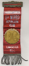 TR FAIRBANKS EAGLE 2 1/4 INCH JUGATE LANCASTER, PA CAMPAIGN BUTTON WITH RIBBON