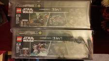 Star Wars Lego Microfighters Super Pack 3 in 1 Sets #1 & #2 AFA 9.0! Minifigures
