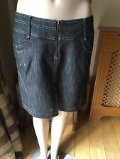 CASUAL NEXT DENIM SKIRT SIZE UK 10 WORN ONCE GREAT CON