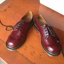 Vintage Dr Martens 1461 cherry red shoes UK 5 EU 38 skin 8249 England Steel