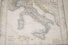 ITALIE  APENNIN CARTE ANCIENNE COULEURS JUSTUS PERTHES XIXe-MD 303