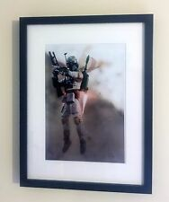 "Star Wars ""Boba Fett"" Action Figure Toy Art Framed A4 Printed Poster Print Image"