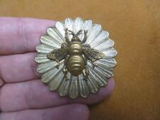 (B-bee-103) Bumble bee honey bees round textured flower pin pendant Brooch