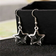 Gold/Silver Hollow Star Crystal Inside Hook Earring Women Dangle Earrings