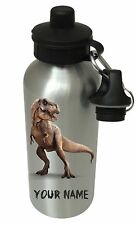 Personalised Dinosaur T Rex Boys, Drinks, Water Bottle, School, Birthday Xmas PE