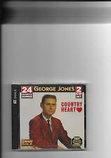 "GEORGE JONES, 2 CD SET, 24 SONGS ""COUNTRY HEART"" NEW SEALED"
