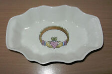 Vintage Donegal Irish Parian Chnia Trinket Candy Dish Claddagh Ring