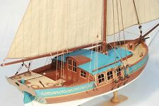 YACHT SWEDEN Sail Boat Scale 1/24  21'' WOODEN SHIP MODEL Ship KITs Free Post