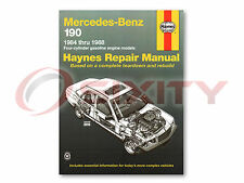 Mercedes 190D Haynes Repair Manual 2.2 2.5 Turbo Shop Service Garage Book qn