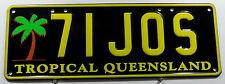 """Nummernschild Australien Queensland """"TROPICAL"""" mit Palme. 12466."""