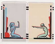 PUT-TOGETHERS JOINABLES #54  Pair of Vintage Swap/Playing Cards