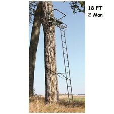 Ladder Tree Stand 18' 2 Man Deer Hunting Treestand Rifle Cross Bow Archery NEW