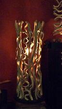 Lampe, Stehlampe, Leuchte  Schwemmholz, H:98 cmTreibholz, Wurzelholz, Teak, Holz