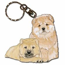 Chow Chow Wooden Dog Breed Keychain Key Ring