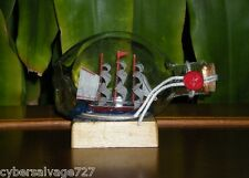 Boat Ship in a Pinch Bottle Sailing Vessel for Desk Top or Nautical Decoration