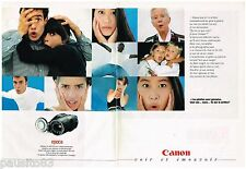 PUBLICITE ADVERTISING 095  1991  CANON caméscope EPOCA ( 2 pages)