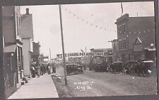 VINTAGE 1904-18 RPPC BATTLEFORD SASKATCHEWAN CANADA KING ST. POOL DRUG POSTCARD