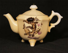 C.1950'S AUSTRALIAN POTTERY BROWNIE DOWNING TEAPOT ABORIGINAL GIRL WITH PARROTS.