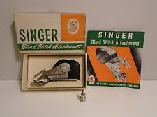 Vintage Singer Sewing Machine Blind Stitch Attachment 160616 w/ Instructions Box