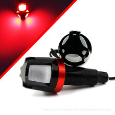 Motorcycle Handlebar Hand Grip LED Bar Strobe Side Marker Light Turn Signal
