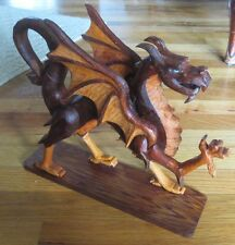Hand Carved Celtic Dragon by Mike Reifel 1996 - Fertility Wisdom Immortality