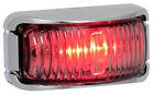 RED CHROME LED MARKER REAR END OUTLINER LIGHT SUBMERSIBLE TRUCK TRAILER 12/24V