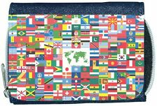 World Flag Denim Wallet