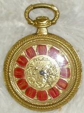 Vintage Pocket Swiss Watch Pendant Seega Gold Roman Numeral Numbers