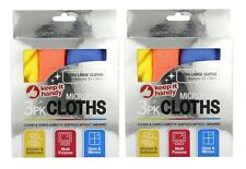 Set Of 2 Keep It Handy Microfibre 3 Pack Cloths Kitchen Bathroom Glass Mirrors