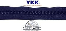 "Genuine YKK Nylon Coil Zipper Tape #10 -  10 yards ""Navy"" Extra Heavy Duty"