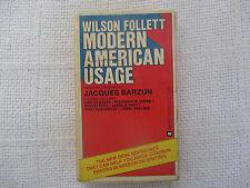 1977 Modern American Usage Jacques Barzun Warner 81-529 2nd ed paperback VG-