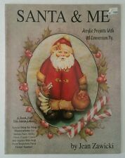 Santa and Me Jean Zawicki Vintage 1992 Tole Painting Instruction Book Volume 20