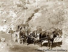 U.S. Paymaster Stagecoach with Guards, South Dakota -1888- Historic Photo Print