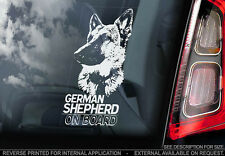 German Shepherd - Car Window Sticker - Dog Sign -V05
